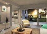 sala apartamento cocotal lago